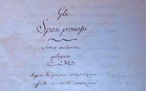 Manoscritto Gli Sposi promessi